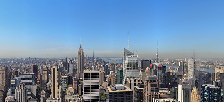 An aerial view of the NYC - well-known to our Manhattan residential movers Manhattan