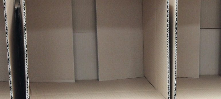 piled cardboard boxes