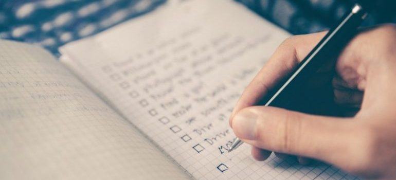 Make a checklist for cleaning out your old home after relocating