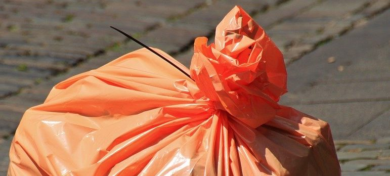 a trash bag