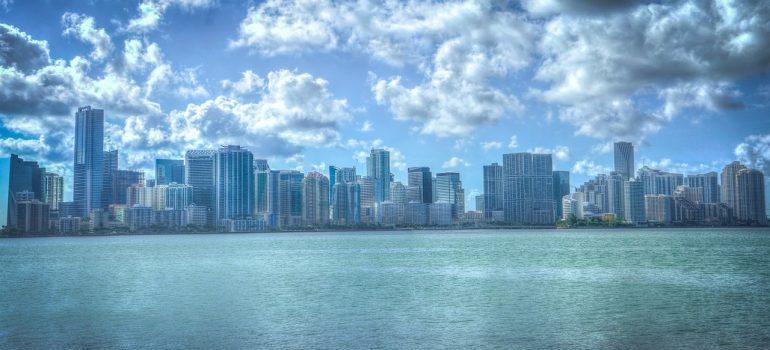 Miami skyline on an overcast day