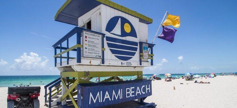 A Miami Beach lifeguard tower