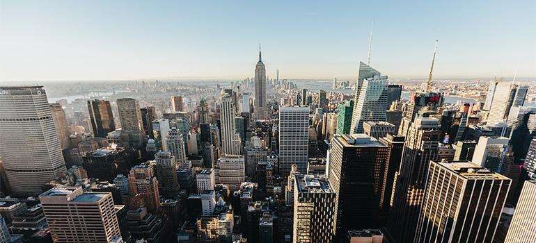 An aerial view of Manhattan