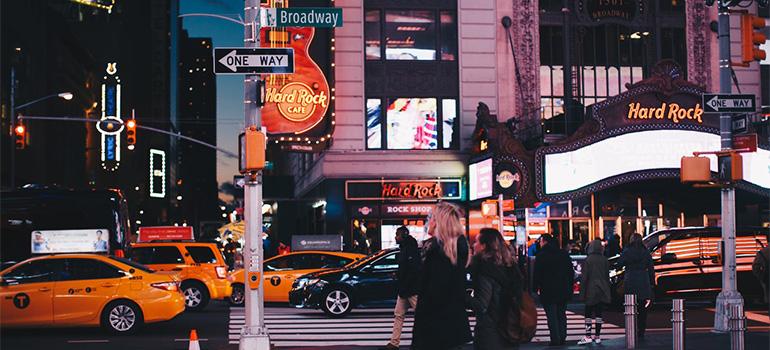 Busy street in Manhattan