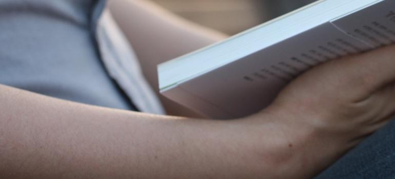 a person reading a book