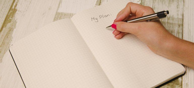 Making a plan.
