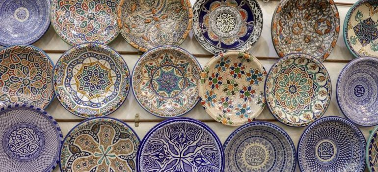 Some porcelain plates